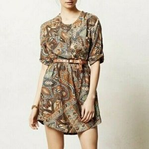 Anthropologie Holding Horses Paisley Palette Dress